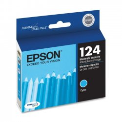 Epson - T124220 - Epson DURABrite 124 Original Ink Cartridge - Inkjet - 220 Pages - Cyan - 1 Each