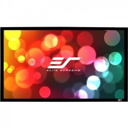 Elite Screens - CURVE110H-A1080P3 - Elite Screens Lunette Curve110H-A1080P3 Fixed Frame Projection Screen - 110 - 16:9 - Wall Mount - 54 x 96 - AcousticPro1080P3