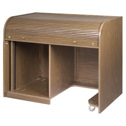 Chief - ERT-CHSD - Raxxess Cherry Elite Roll Top Desk with Seating Cutout - 41.38 Height x 47.50 Width x 30 Depth - Cherry, Laminated - Melamine