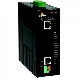 EtherWAN Systems - ED3142-00B - EtherWAN Hardened 10/100BASE-TX IEEE802.3at PoE Ethernet Extender