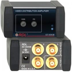 Radio Design Labs (RDL) - EZVDA3B - RDL 1x3 NTSC/PAL Video Distribution Amplifier on BNC