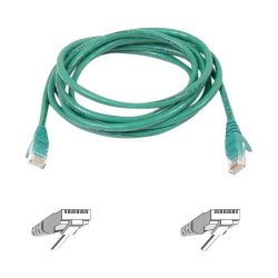 Belkin / Linksys - A3L980-08-GRN-S - Belkin Cat6 Patch Cable - RJ-45 Male - RJ-45 Male - 8ft - Green