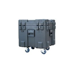"SKB Cases - 3R2222-20B-C - SKB 3R 20"" Deep Roto Mil-Standard Waterproof Case - Internal Dimensions: 22"" Width x 20"" Depth x 22"" Height - Latching Closure - Steel - Black - For Video Equipment, Lighting Equipment, Military"