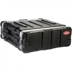 "SKB Cases - 1SKB19-3U - SKB US Standard 3U 19"" Deep Rack Case - Internal Dimensions: 19"" Width x 19"" Depth x 5.25"" Height - External Dimensions: 22"" Width x 21.5"" Depth x 7.7"" Height - 6.80 gal - Stackable - Polyethylene - Black - For Rack Device"