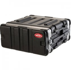"SKB Cases - 1SKB19-4U - SKB Standard 4U 19"" Deep Rack Case - Internal Dimensions: 19"" Width x 19"" Depth x 7"" Height - External Dimensions: 22"" Width x 21.5"" Depth x 9.5"" Height - 9.07 gal - Stackable - Polyethylene - Black - For Rack Device"