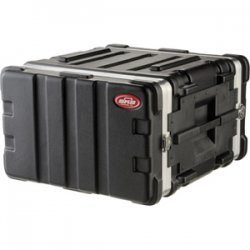 "SKB Cases - 1SKB19-6U - SKB US Standard 6U 19"" Deep Rack Case - Internal Dimensions: 19"" Width x 19"" Depth x 10.50"" Height - External Dimensions: 22"" Width x 21.5"" Depth x 13"" Height - 13.60 gal - Stackable - Polyethylene - Black - For Rack Device"