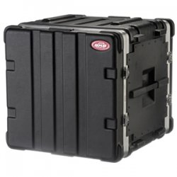 "SKB Cases - 1SKB19-10U - SKB US Standard 10U 19"" Deep Rack Case - Internal Dimensions: 19"" Width x 19"" Depth x 17.50"" Height - External Dimensions: 22"" Width x 21.5"" Depth x 20"" Height - 22.67 gal - Stackable - Polyethylene - Black"