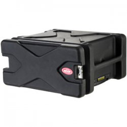 "SKB Cases - 1SKB-RLX5 - SKB Roll-X 5U Rolling Rack - Internal Dimensions: 19"" Width x 17.75"" Depth x 8.75"" Height - External Dimensions: 24.8"" Width x 21.8"" Depth x 12"" Height - 12.59 gal - Latching Closure - Stackable - Polyethylene - Black - For Rack"