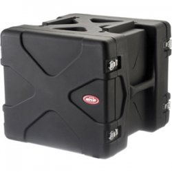 "SKB Cases - 1SKB-R10 - SKB US 10U Roto Rack Case - Internal Dimensions: 19"" Width x 17.50"" Height - External Dimensions: 23.8"" Width x 22"" Depth x 20.5"" Height - 24.47 gal - Stackable - Polyethylene - Black - For Rack Device"