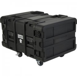 "SKB Cases - 3SKB-R906U24 - SKB 6U Roto Shock Rack - Internal Dimensions: 19"" Width x 28.50"" Depth x 10.50"" Height - External Dimensions: 27.5"" Width x 36.8"" Depth x 20.5"" Height - 20.73 gal - Latching Closure - Stackable - Polyethylene - Black - For Rack"