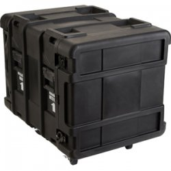 "SKB Cases - 3SKB-R910U24 - SKB 10U Roto Shock Rack - Internal Dimensions: 19"" Width x 28.50"" Depth x 17.75"" Height - External Dimensions: 27.5"" Width x 36.8"" Depth x 27.8"" Height - 35.04 gal - Latching Closure - Stackable - Polyethylene - Black - For Rack"