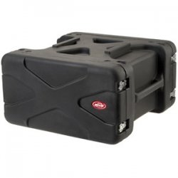 "SKB Cases - 1SKB-R904U20 - SKB 4U Roto Shockmount Rack Case - Internal Dimensions: 19"" Width x 7"" Height - External Dimensions: 29"" Width x 27.5"" Depth x 16"" Height - 11.52 gal - Latching Closure - Stackable - Polyethylene - Black - For Rack Device"