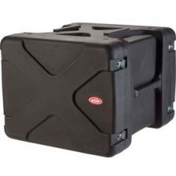 "SKB Cases - 1SKB-R908U20 - SKB 8U Roto Shockmount Rack Case - Internal Dimensions: 19"" Width x 23.25"" Depth x 14"" Height - External Dimensions: 30"" Width x 28.5"" Depth x 23"" Height - 23.03 gal - Latching Closure - Stackable - Polyethylene - Black - For"