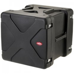"SKB Cases - 1SKB-R910U20 - SKB 10U Roto Shockmount Rack Case - Internal Dimensions: 19"" Width x 23.25"" Depth x 17.75"" Height - External Dimensions: 29"" Width x 28.3"" Depth x 26.3"" Height - 29.20 gal - Latching Closure - Stackable - Polyethylene - Black -"