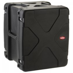 "SKB Cases - 1SKB-R914U20 - SKB 14U Roto Shockmount Rack Case - Internal Dimensions: 19"" Width x 20"" Depth x 24.50"" Height - External Dimensions: 29.1"" Width x 28"" Depth x 33.3"" Height - 40.30 gal - Latching Closure - Heavy Duty - Stackable - Black - For"