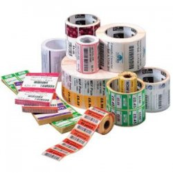 """Zebra Technologies - 10000297 - Zebra Label Paper 2.25 x 1.25in Direct Thermal Zebra Z-Perform 2000D 3 in core - Permanent Adhesive - 2.25"""" Width x 1.25"""" Length - 4350 / Roll - 3"""" Core - Direct Thermal - White - Paper, Acrylic - 8 / Roll"""
