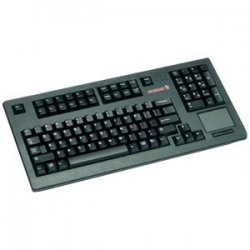 Cherry - G80-11900LPMUS-2 - Cherry G80-11900 Series Compact Keyboard - PS/2 - QWERTY - 104 Keys - Black - English (US)