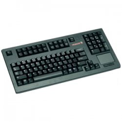 Cherry - G80-11900LTMUS-0 - Cherry G80-11900 Series Compact Keyboard - PS/2 - QWERTY - 104 Keys - Light Gray - English (US)