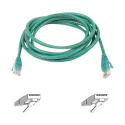 Belkin / Linksys - A3L980-03-GRN-S - Belkin - Patch cable - RJ-45 (M) to RJ-45 (M) - 3 ft - UTP - CAT 6 - molded, snagless - green - B2B - for Omniview SMB 1x16, SMB 1x8, OmniView SMB CAT5 KVM Switch