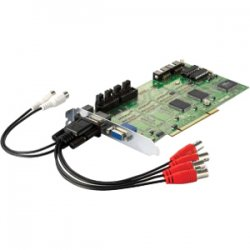 CP Tech / Level One - FCS-8005 - LevelOne FCS-8005 4-Port Analog Camera Capture Card - PAL, NTSC - Plug-in Card