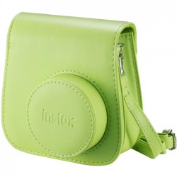 Fujifilm - 600018146 - Fujifilm Groovy Carrying Case for Camera - Lime Green - Synthetic Leather - Debossed Instax Logo - Hand Strap, Shoulder Strap - 6 Height x 2 Width x 5 Depth