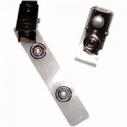 Fellowes - 52055 - Fellowes ID Clips with Mylar Strap - 2 x 0.5 x 1 - 100 / Pack