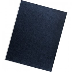 Fellowes - 52096 - Fellowes Linen Presentation Covers - Letter, Navy, 50 pack - 11 Height x 8.5 Width x 0.1 Depth - For Letter 8 1/2 x 11 Sheet - Rectangular - Navy - Linen - 50 / Pack