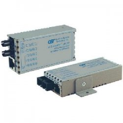 Omnitron - 1111-1-1 - miConverter 10/100 Ethernet Single-Fiber Media Converter RJ45 SC Single-Mode BiDi 20km - 1 x 10/100BASE-TX, 1 x 100BASE-BX-D (1550/1310), US AC Powered, Lifetime Warranty