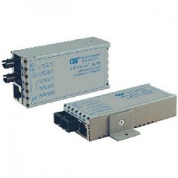 Omnitron - 1111-2-1 - miConverter 10/100 Ethernet Single-Fiber Media Converter RJ45 SC Single-Mode BiDi 40km - 1 x 10/100BASE-TX, 1 x 100BASE-BX-D (1550/1310), US AC Powered, Lifetime Warranty