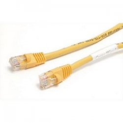 StarTech - M45PATCH6YL - StarTech.com 6 ft Yellow Molded Cat5e UTP Patch Cable - Category 5e - 6 ft - 1 x RJ-45 Male - 1 x RJ-45 Male - Yellow