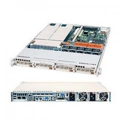 Supermicro - SYS-6014P-82R - Supermicro SuperServer 6014P-82R Barebone System - Intel E7520 - Socket 604 - Xeon, Xeon LV - 800MHz Bus Speed - 16GB Memory Support - DVD-Reader (DVD-ROM) - Gigabit Ethernet - 1U Rack