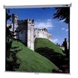 "Da-Lite - 85312 - Da-Lite Model B with CSR Manual Wall and Ceiling Projection Screen - 57"" x 77"" - Matte White - 96"" Diagonal"