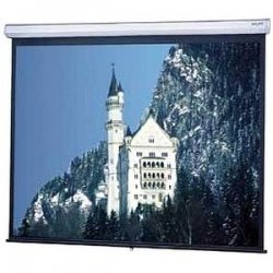 "Da-Lite - 77169 - Da-Lite Model C Manual Wall and Ceiling Projection Screen - 87"" x 116"" - Matte White - 150"" Diagonal"