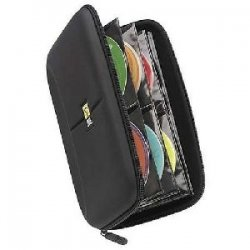 Case Logic - CDE-48 - Case Logic CD Wallet - Book Fold - Fabric - Black - 48 CD/DVD