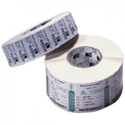 "Zebra Technologies - 18929 - Zebra Label Polypropylene 4 x 2.5in Thermal Transfer Zebra PolyPro 3000T 1 in core - Permanent Adhesive - 4"" Width x 2.50"" Length - 900 / Roll - 1"" Core - Thermal Transfer - White - Polypropylene, Acrylic - 4 / Roll"