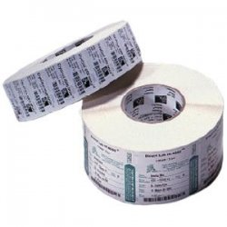"Zebra Technologies - 17154 - Zebra Label Polypropylene 2 x 1in Thermal Transfer Zebra PolyPro 3000T 1 in core - 2"" Width x 1"" Length - Permanent - 1000 / Pack - White"