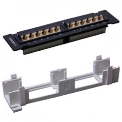 StarTech - C6PANL4512 - StarTech.com 12 Port 1U Wall Mount Cat 6 110 Patch Panel - 12 x RJ-45