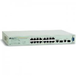 Allied Telesis - AT-FS750/16-10 - Allied Telesis AT FS750/16 16 Port Fast Ethernet WebSmart Switch - 16 x 10/100Base-TX, 2 x 1000Base-T