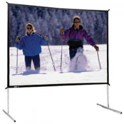 "Da-Lite - 88696 - Da-Lite Fast-Fold Deluxe Screen System - 72"" x 96"" - Dual Vision - 120"" Diagonal"