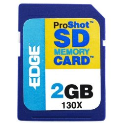 Edge Tech - EDGDM-201265-PE - EDGE Tech 2GB ProShot Secure Digital Card 130X - 2 GB