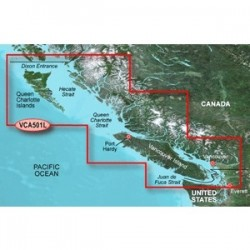 Garmin - 010-C0701-00 - Garmin VCA501L - Vancouver Is.-Dixon Entrance - North America - Canada, United States - Vancouver - Dixon Entrance, Vancouver Island, Queen Charlotte Islands, Coast of British Columbia, Strait of Juan, Port Hardy, Everett -