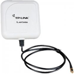 TP-LINK - TL-ANT2409A - TP-LINK TL-ANT2409A 2.4GHz 9dBi Directional Antenna,802.11n/b/g, RP-SMA Male connector, 1m/3ft cable - Range - UHF - 9 dBi - Wireless Data Network, Outdoor - Pole/Wall