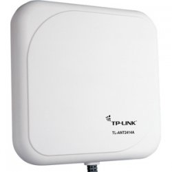 TP-LINK - TL-ANT2414A - TP-LINK TL-ANT2414A 2.4GHz 14dBi Outdoor Directional Antenna, RP-SMA Male connector, 1m/3ft cable - 14 dBi - Panel