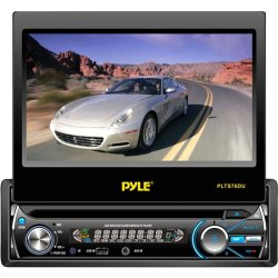 "Pyle / Pyle-Pro - PLTS76DU - Pyle PLTS76DU Car DVD Player - 7"" Touchscreen LCD - 320 W RMS - Single DIN - 4 Channels - DVD Video, Video CD, MPEG-4 - AM, FM - SD, MultiMediaCard (MMC) - USB - Auxiliary Input - In-dash"