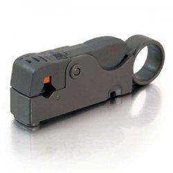 C2G (Cables To Go) / Legrand - 04627 - C2G Dual Blade RG58/RG59/RG62/RG6/RG6QS Stripper - Gray, Orange - 2.08 oz