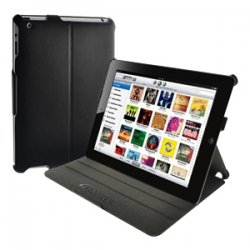 Amzer - 90814 - Amzer Shell 90814 Carrying Case (Portfolio) for iPad - Black - Scratch Resistant - Leather - Textured