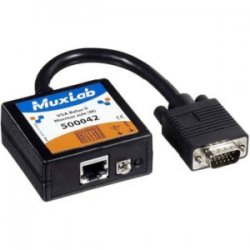 MuxLab - 500042 - MuxLab VGA Balun II - for Monitor - HD-15 Male VGA - RJ-45 Female Network