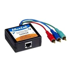 MuxLab - 500058 - MuxLab Component Video/Stereo Audio Balun - 1 Input Device - 1 Output Device - 1000 ft Range - 1 x Network (RJ-45) - Full HD - 1920 x 1080 - Twisted Pair - Category 6