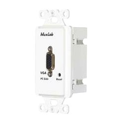 MuxLab - 500043-WP-US - Wall Plate Vga Balun Ii, Pc Sid