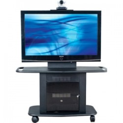 Avteq - GMP-200M-TT1 - Avteq GMP - 200M - TT1 Display Stand - Up to 55 Screen Support - 350 lb Load Capacity - 1 x Shelf(ves) - Locking Door - 32 Height x 56 Width x 27.5 Depth - Glass, Steel